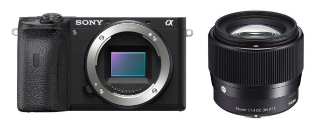 Sony A6600 +56mm f/1,4 DC DN Contemporary til Sony E