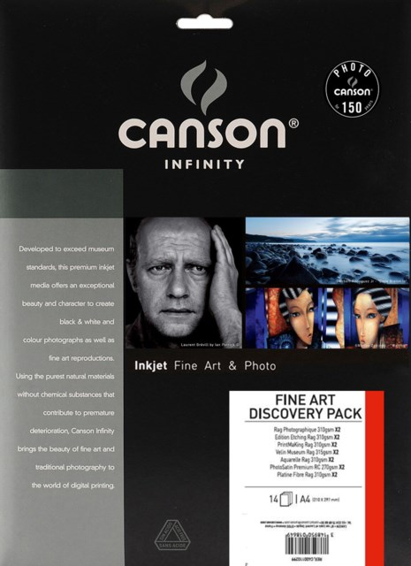 Canson New Fine Art Discovery Pack A4 14 ark