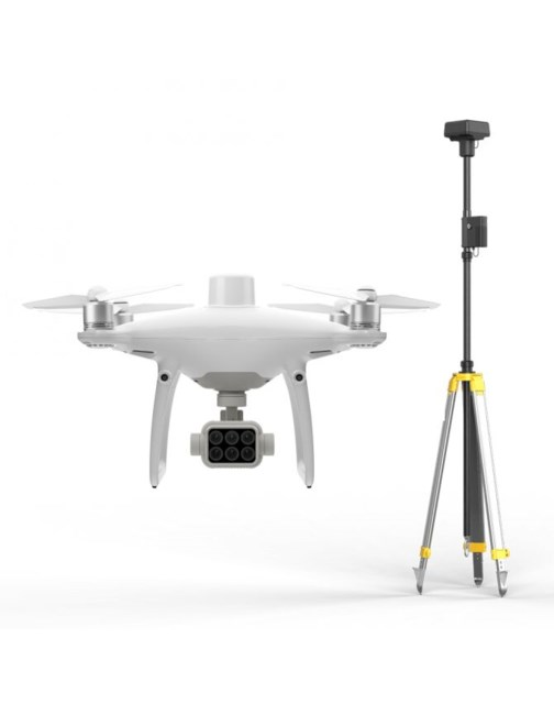 DJI Phantom 4 Multispectral + D-RTK 2 High presisjon GNSS Mobile Station Combo