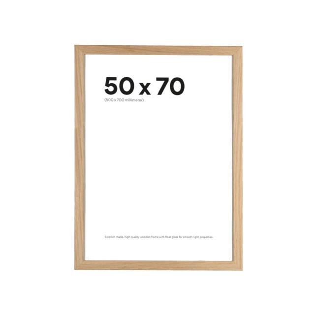 Scandinavian Photo Fotoramme 50x70 Slim Eik