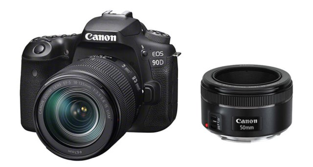 Canon EOS 90D med EF-S 18-135/3,5-5,6 IS USM + EF 50mm f/1,8 STM