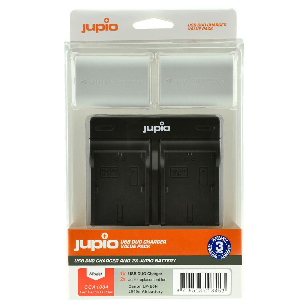 Jupio Verdipakke LP E6N Ultra (2x) Canon + Dobbellader