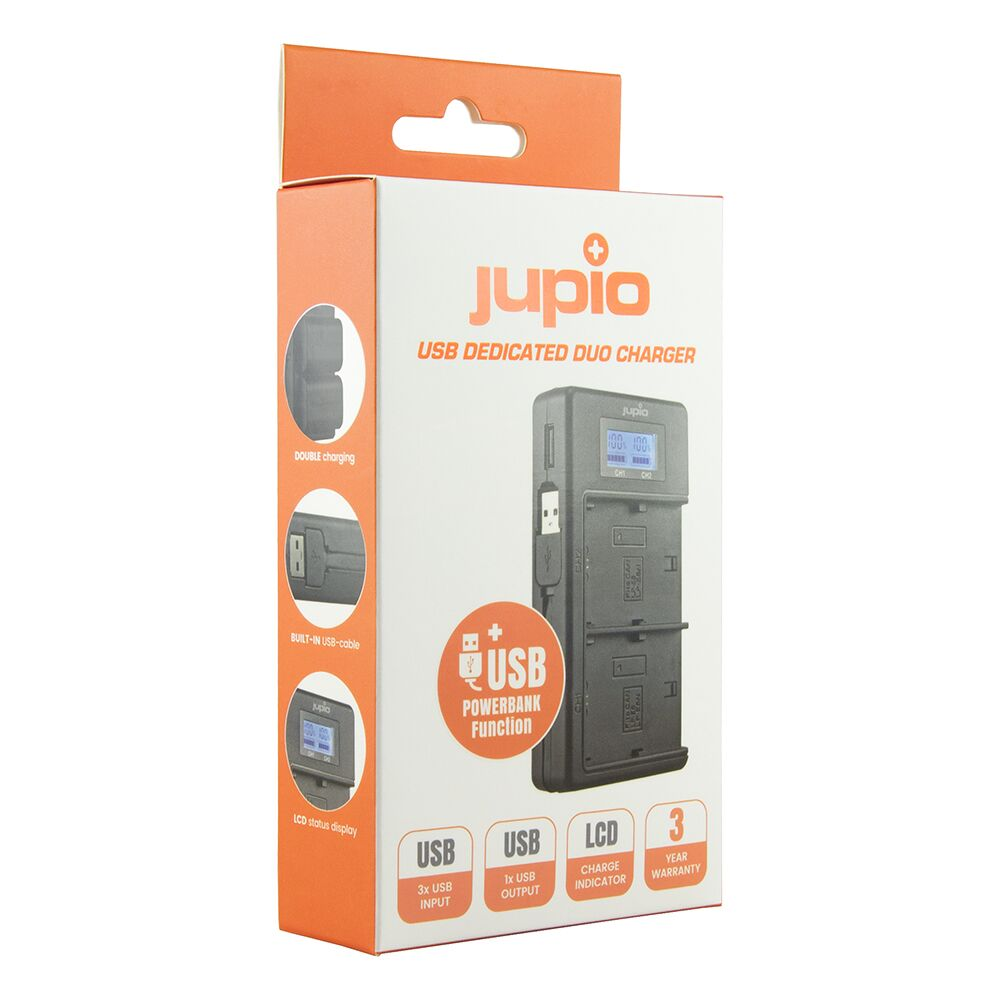 Jupio NP FM50, NP F550F750F970 Duo charger Sony
