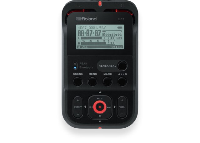 Roland R-07 Black Portable Audio Recorder