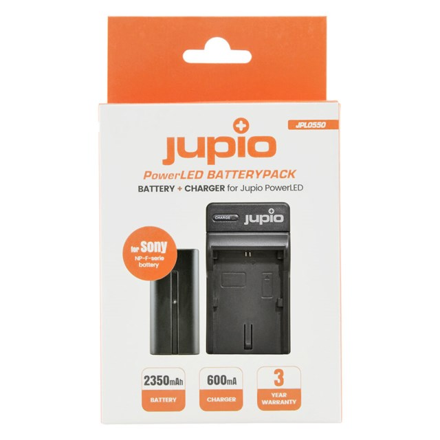 Jupio NP-F F550 Batteri + lader, Sony