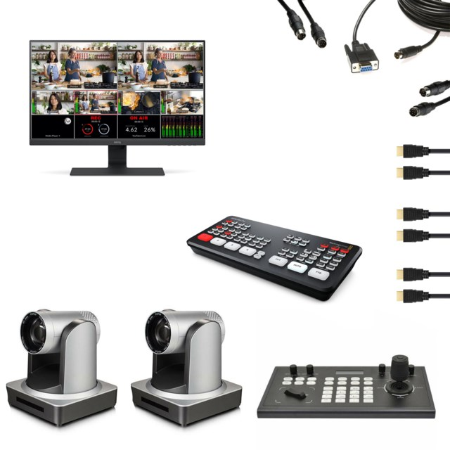 Scandinavian Photo Streamingkit 2stk Minrray PTZ CAM UV510AS-20 +  BMD Atem Mini Pro