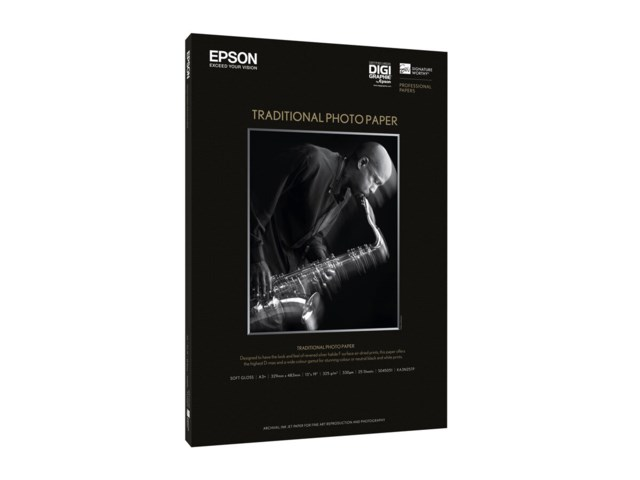 Epson Traditional photopaper A3+ 25 ark