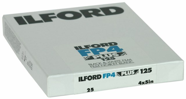 "Ilford FP4+ 4"" x 5"" 25 ark"