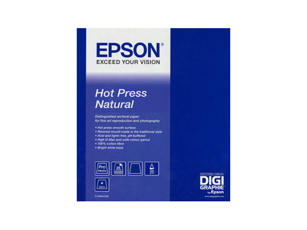 Epson A2 Hot Press Natural 420 x 594 m