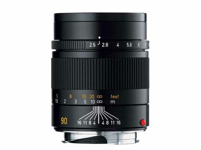 Leica Summarit-M 90mm f/2.4 svart