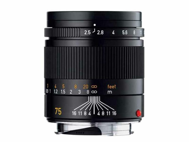 Leica Summarit-M 75mm F2.4 ASPH svart