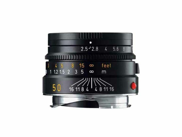 Leica Summarit-M 50mm f/2.5 svart