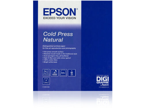 "Epson Fotopapir rull Cold Press Natural 24"" x 15 meter"