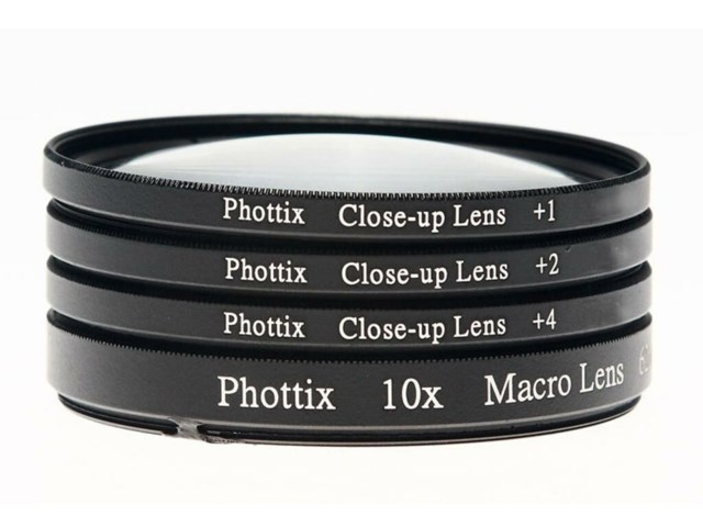 Phottix +1,+2,+4,10x Macro Lens Kit 52mm