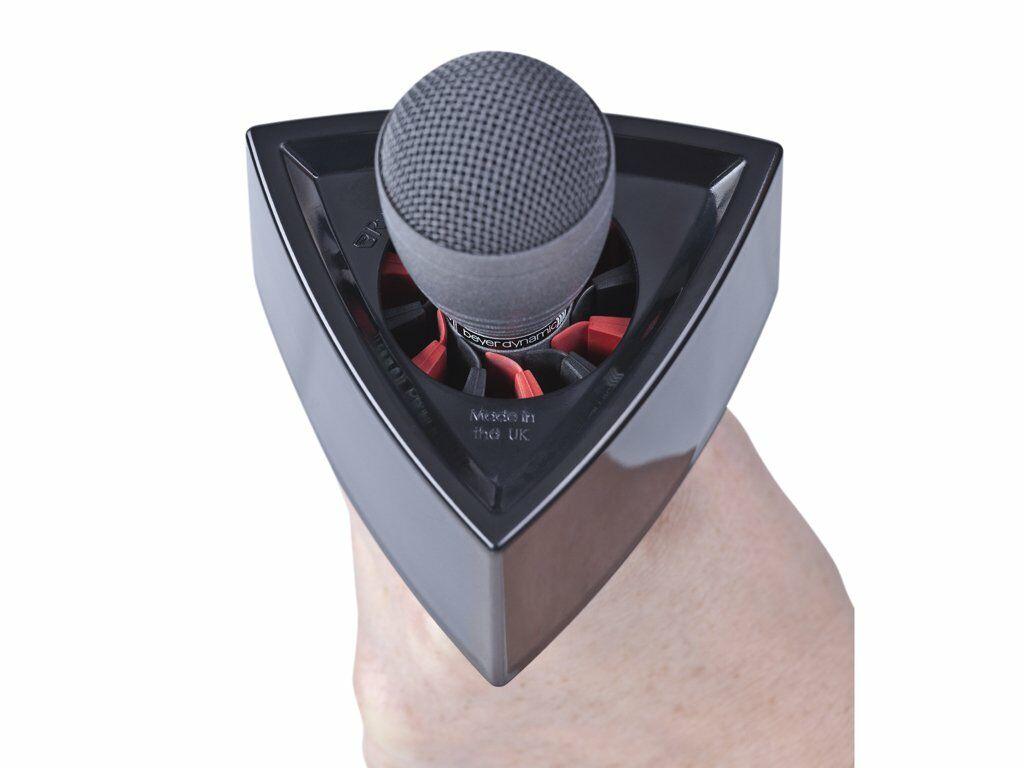 RYCOTE Microphone Flag Triangular White logo holder til