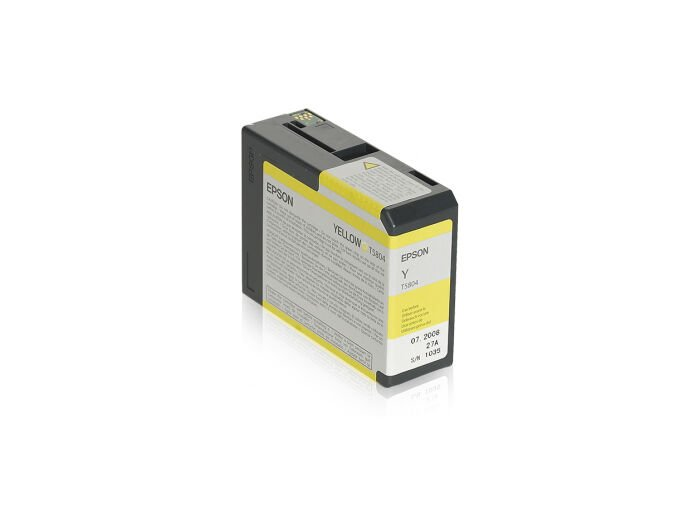 Epson Blekk T5804 Yellow, 80ml