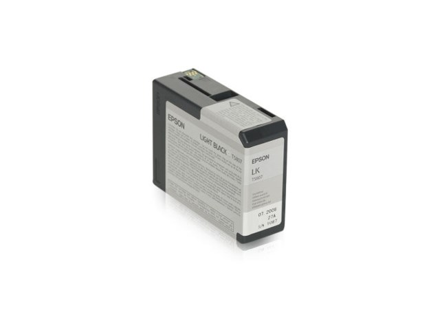 Epson Blekk T5807 Light Black, 80ml