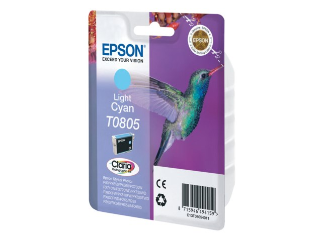 Epson blekk T0805 Light Cyan