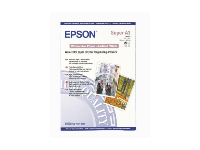 Epson watercolor paper-radiant white A3+