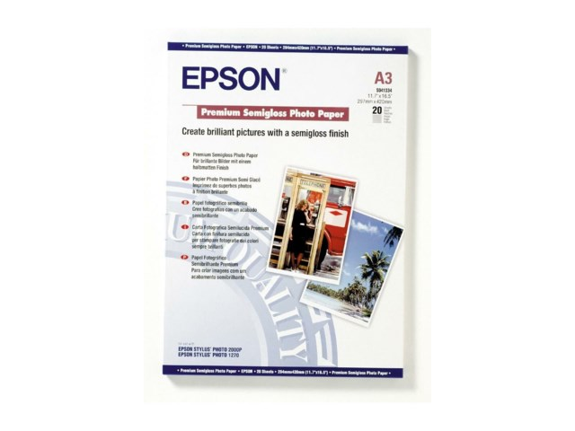 Epson A3 Premium Semigloss Photo Paper