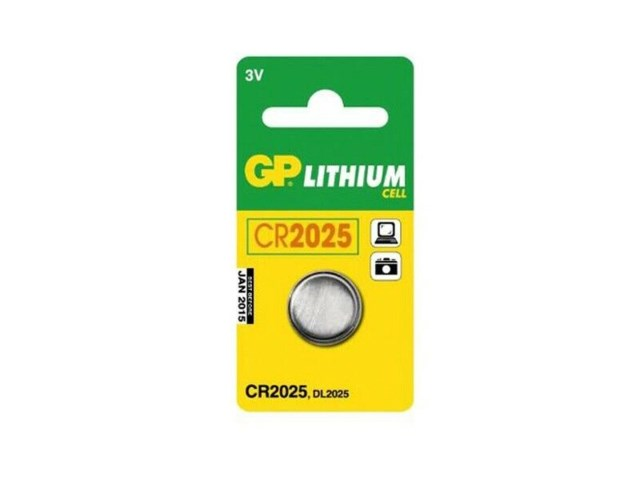 GP Batteri Cr 2025 3V Lithium DL2025/KCR2025